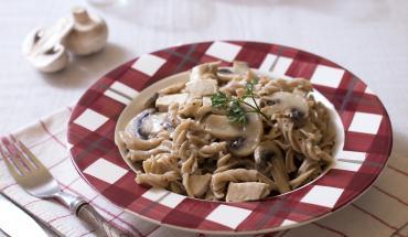 One pot pasta épeautre poulet champignons