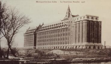 Marquette-lez-Lille (Nord), les grands moulins construits en 1921.