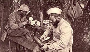 Poilus durant la guerre 1914-1918