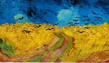 Champ de blé avec corbeaux, Vincent Van Gogh