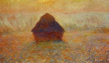 Meule, soleil dans la brume - Claude Monet (1890-1891)