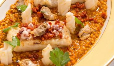 Paella au sarrasin et merlu