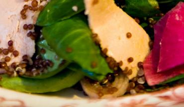 Salade gourmande quinoa foie gras