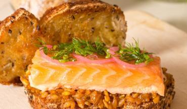 Recette sandwich au saumon et petit épeautre Florian Barbarot