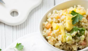 Salade de riz saumon avocat ananas