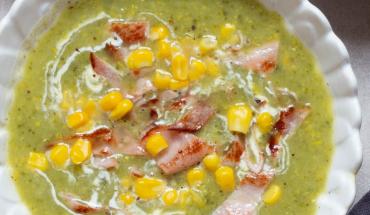 soupe de mais au bacon