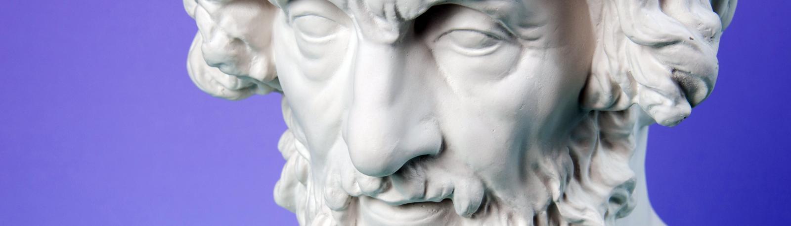 Sculpture Homère grèce antique