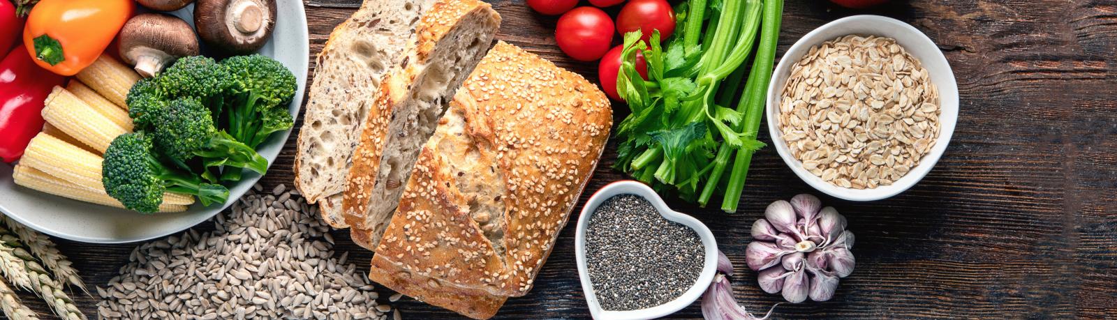 Variété d'aliments riches en fibres